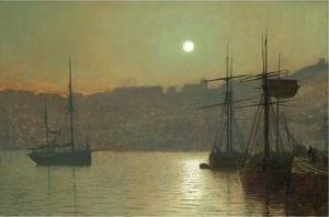 John Atkinson Grimshaw - South Bay, Scarborough