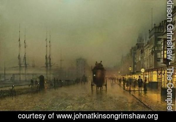 John Atkinson Grimshaw - Saturday Night, On The Clyde At Glasgow