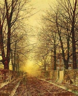 John Atkinson Grimshaw - A Golden Country Road