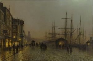 John Atkinson Grimshaw - Glasgow - Saturday Night