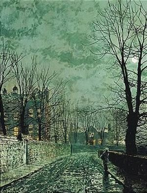 John Atkinson Grimshaw - Moonlight Study - Old English House
