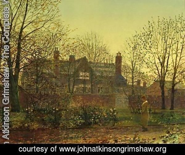 John Atkinson Grimshaw - All in the Golden Twilight