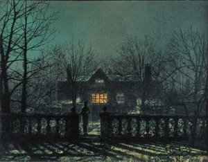 John Atkinson Grimshaw - The Figure At The Gate