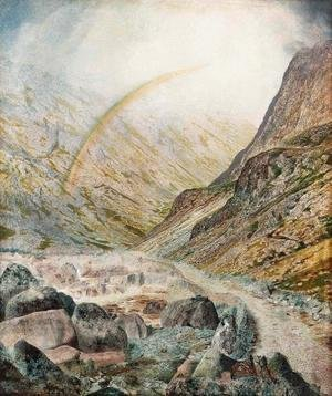 John Atkinson Grimshaw - A Mountain Road, Flood Time