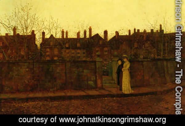 John Atkinson Grimshaw - In the Golden Gloaming