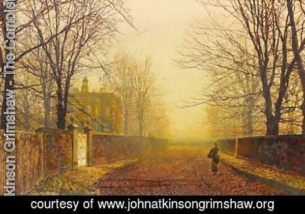 John Atkinson Grimshaw - Golden Autumn
