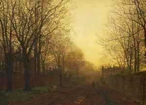 John Atkinson Grimshaw - Wimbledon Park, Autumn After Glow